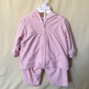 Ralph Lauren pink velour two piece